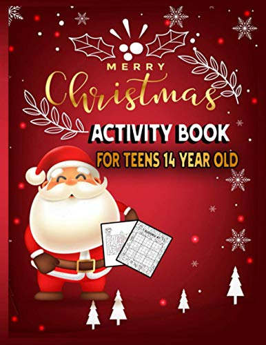 Merry Christmas Activity Book For Teens 14 Year Old: Christmas Countdown Activity Book For Creative Children: Large Print Word Search, Coloring, ... Claus, Reindeer, Elves, Animals, Snowman.