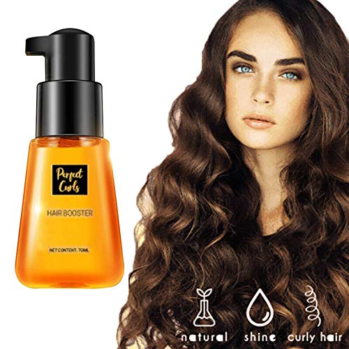 LLDF 70mL Super Curl Defining Booster Hair Fixing Care Essence Oil Reduces Frizz and Detangles