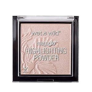 Wet n Wild - MegaGlo Highlighting Powder - Iluminador en Polvo para una Piel más Brillante y Radiante - Fórmula Sedosa, Suave y de Alta Pigmentación con un Acabado Nacarado - Blossom Glow - 1 Unidad