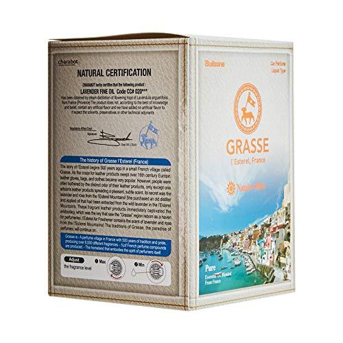 Bullsone Grasse L'esterel, Natural Car Air Fresheners, Luxury Car Perfume - Naples Blue Scent (2 Pack)