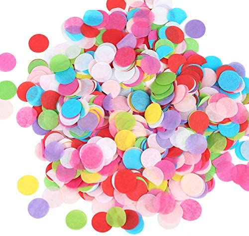 25000 Pieces Colorful Tissue Paper Confetti 1inch Large Bag Round Confetti for Wedding Birthday product image