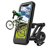 SPRIME Soporte movil Bicicleta Moto Impermeable Porta movil Bicicleta,rotación 360,Pantalla táctil Soporte movil Bici,Accesorios Bicicleta e Moto para Todos los teléfonos Inteligentes Dentro de 6.8'