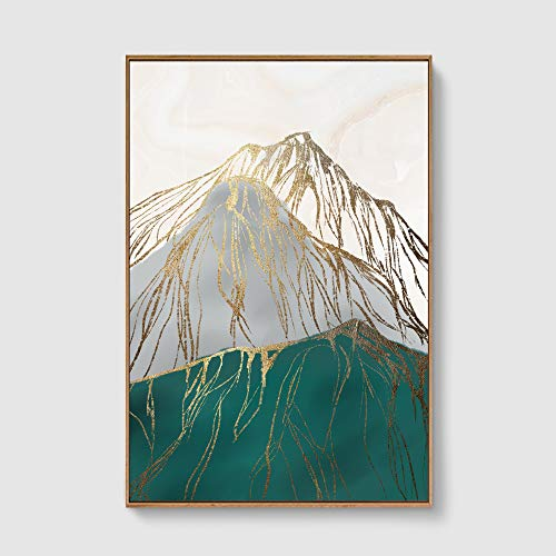 SIGNFORD Framed Canvas Home Artwork Decoration Nordic Style Abstract Color Canvas Wall Art for...