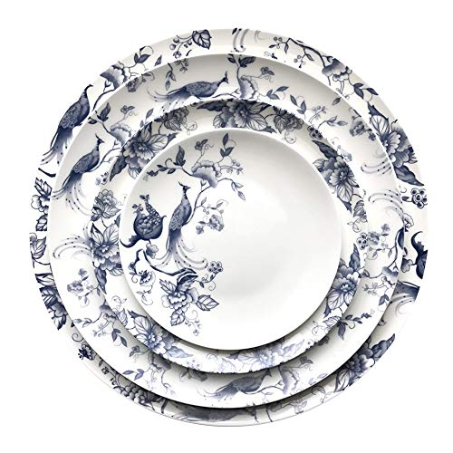 Sunbobo Table Decoration Plate Moderno y Elegante vajilla de China de Hueso del hogar Filete Placa Placa de cerámica Western Steak Plate (Color : Multi-Colored, Size : One Size)