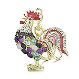 HUAHUA Llaveros Joyería Cristal Bolsa de ópalos Gallo del Gallo del Pollo llaveros Pendiente de la Llave del Llavero de Regalo