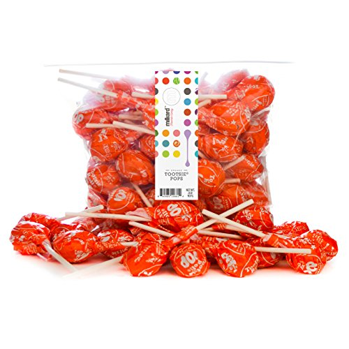 Tootsie Pops Orange - 2 Lb. Resealable Bag (approx. 50 pops)