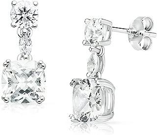 Best cz drop earrings sterling Reviews