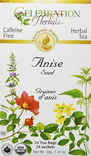 Celebration Herbals Organic Anise Seed Tea Caffeine Free, 24 Herbal Bags