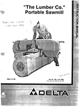 Delta Rockwell 36-360 The Lumber Company Portable Sawmill Instructions Reprint [Plastic Comb]