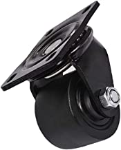 POPETPOP 3 Inch Heavy Duty Caster Wheels Swivel Plate Caster Moving Wheels Rubber Silent Caster for Carts Chairs Furniture...