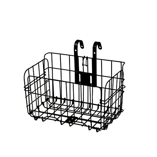 Einstellbarer Aluminium Fahrradkorb, Wire Mesh Fold-Up Abheben Vorne Hinten Bike Fahrradkorb Quick Release, 33lb (15kg) Kapazität, Schwarz