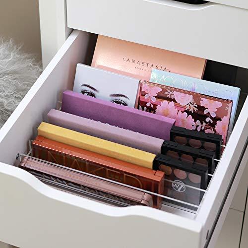 TidyUps DIVIDERS for PALETTES | Trennstege-Set als Schubladeneinsatz für IKEA Alex 5 | Kosmetik Organizer für Paletten aus Acryl (52cm)