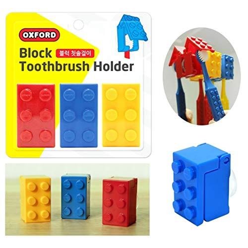 Juego de 3 fundas para cepillo de dientes de ladrillo para oficina, viajes, hogar para niños (3 unidades)