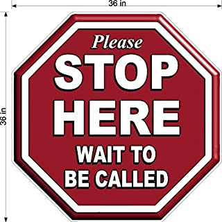 Stop Sign Shaped Please Wait to BE Called Floor Decal Pharmacy Doctors Office 3 Sizes (36