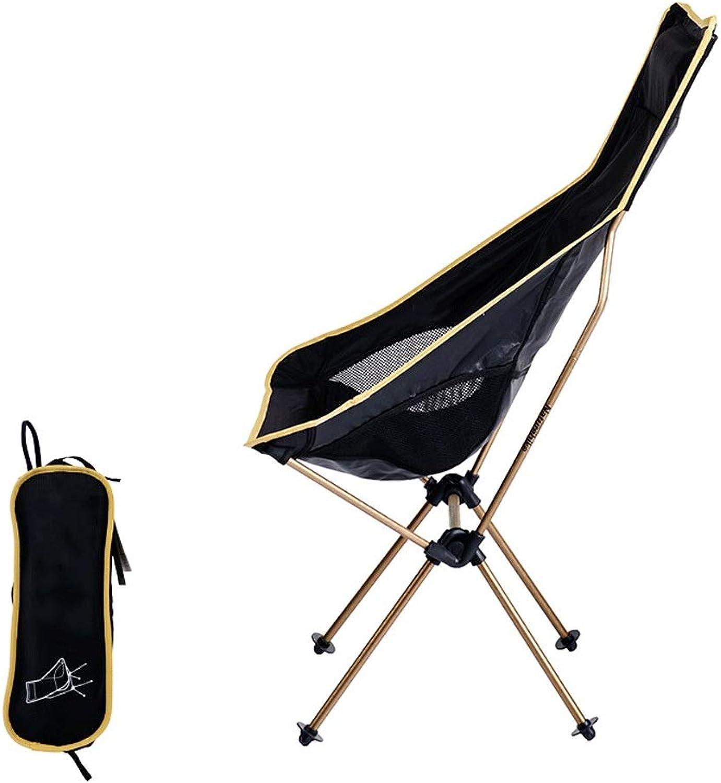 A-Qnice Outdoor Klapp Angeln Stuhl Leichtgewichtler Ultralight Faltbar für Patio Sporting Touring Picknick Wandern Angeln, Komfortable High Back Design, Reise Stuhl Mit Tragbaren Tragetasche