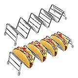 ROSEBEAR Estante para Tacos de Acero Inoxidable Soporte para Tacos para Panadería de Hotel de Cocina. (2 Uds.)