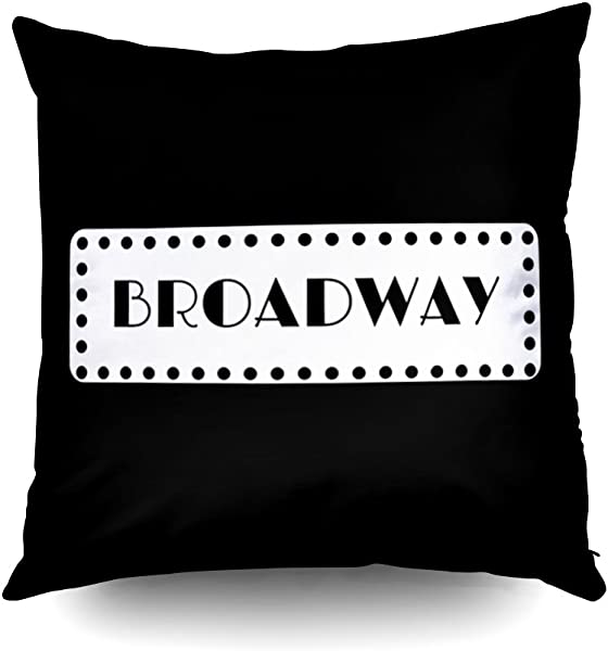 Capsceoll Broadway Musicals Decorative Throw Pillow Case 16X16Inch Home Decoration Pillowcase Zippered Pillow Covers Cushion Cover With Words For Book Lover Worm Sofa Couch