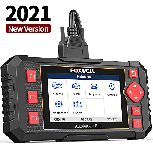 FOXWELL OBD2 Scanner NT604 Elite Scan Tool ABS SRS Transmission Check Engine,Car Code Reader with Airbag, ABS SRS Car Diagnostic Scanner