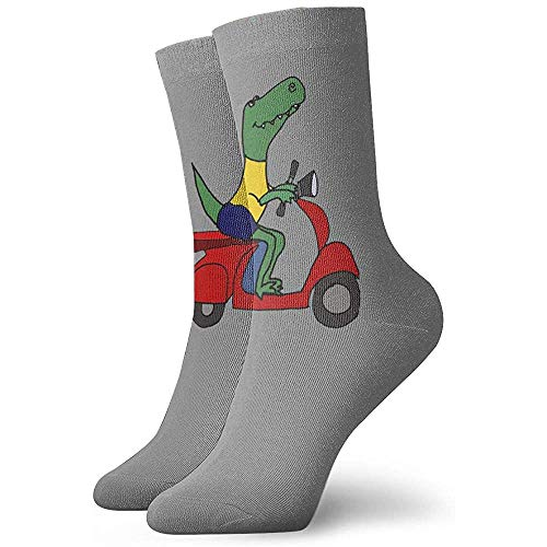 Tammy Jear T-Rex Dinosaur Riding Motor Scooter Crew Calcetines Unisex Calcetines casuales