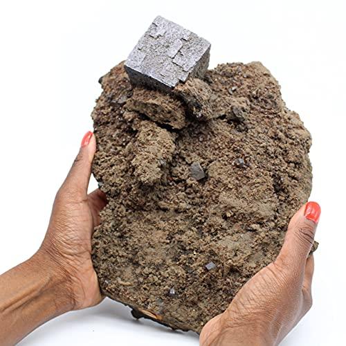 Ravaka et Mineraly Gran Cubo de Galena en ganges 3350gr 250mm de Estados Unidos