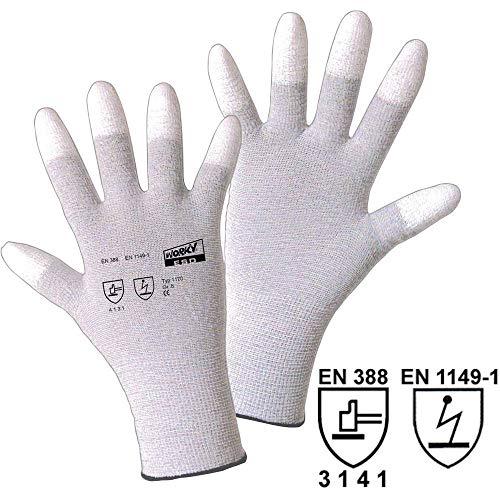 Worky 1170ESD Polyamid/carbon-pu (Fingerspitze) feinmaschiges Handschuh Gr.10Polyamid/Carbon mit Beschichtung
