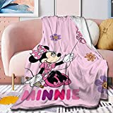 Muilti-Style Disney Minnie Mouse Blanket Throw Mickey Mouse Blanket Throw Kids Bedding Flannel Soft Lightweight Cozy Fade Resistant 50x40in XS Twin for Kid