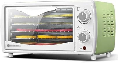 Máquina de conservación de alimentos para el hogar Deshidratador de alimentos, secadora de frutas, multifunción, control de temperatura ajustable, temporizador Incubadora de alimentos verde de 5 capas