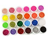 Juego de 24 esmaltes de purpurina para decoración de colores