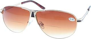 Bifocale zonnebril met verloopkleuring en leesdeel/naaddeel | +1,00 tot +3,50