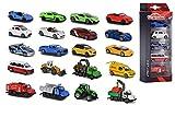 Majorette 212053166 Street Cars - Set de 5 Coches de Juguete de Metal de 7.5 cm con Sistema de Rueda Libre, 4 Modelos Disponibles