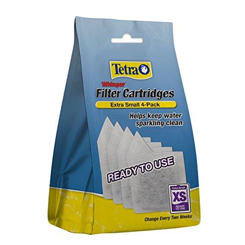 Tetra Whisper Filter Cartridges 4 Count, Extra Small, For aquarium Filtration (AQ-78052)