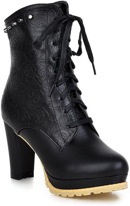 AdeeSu Womens Casual Round-Toe Slip-Resistant Rhinestones Urethane Boots SXC01796
