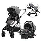 Evenflo Pivot Xpand, Single-to-Double Convertible Baby Stroller with Compact Folding design, Percheron Gray