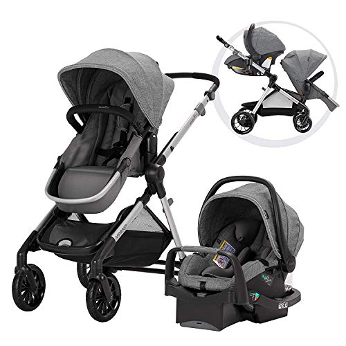 Evenflo Pivot Xpand, Single-to-Double Convertible Baby Stroller with Compact Folding design, Percheron Gray