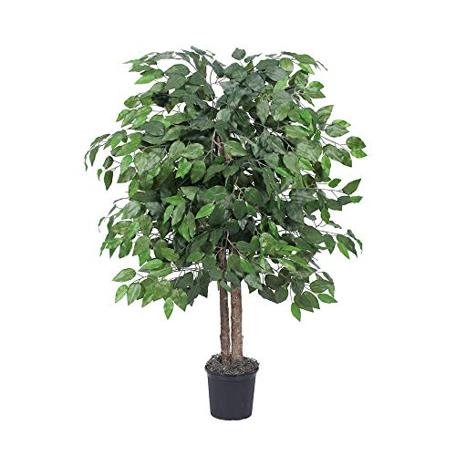 Vickerman Everyday Künstlicher Ficus-Strauch, 122 cm, lebensechte Dekoration für Zuhause und Büro – künstlicher Topfstrauch