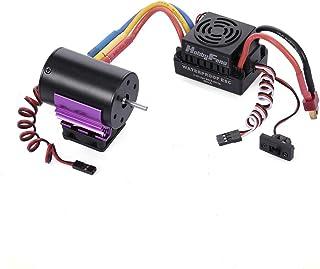 Sharplace Waterproof Moteur 3650 4300kv sans Balai 60A ESC Carte de Programmation LED Pi/èces de Rechange pour 1:10 RC Voiture
