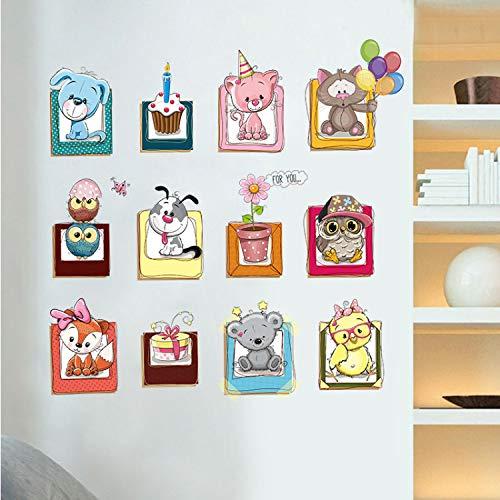 sadsad Niedlichen Tier DIY Wandaufkleber Wohnkultur Blume Luftballons Wallpaper Für Kinderzimmer Dekor Abziehbilder