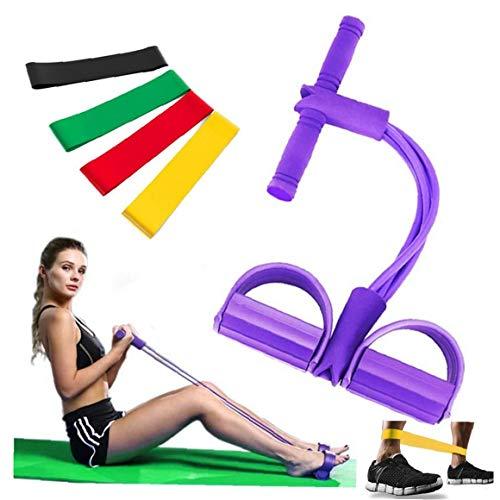 1 juego de culturismo Expander elástico Resistencia yoga de la venda de equipos deportivos brazo de la cintura de la pierna ejercitador de dispositivos portátiles Gimnasio en casa para mante