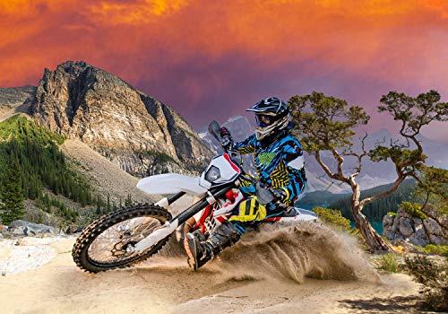 wandmotiv24 Fototapete Enduro Motorbike Racing , M 250 x 175 cm - 5 Teile, Fototapeten, Wandbild, Motivtapeten, Vlies-Tapeten, Sport, Motorrad, Extreme M0686