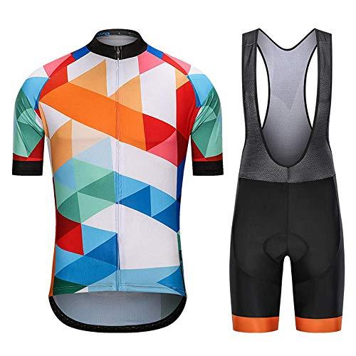 Ropa Ciclismo Hombre Conjunto Equipacion Traje para Verano, Maillot Ciclismo +Culotte Ciclismo...