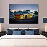 Surfilter Gelb Supercar Leinwand Malerei Fords Mustang GT