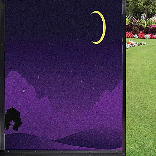 Película protectora para ventana de color morado oscuro para ventana de privacidad, extraíble, color crema índigo 60 x 90 cm