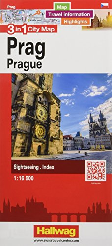 Prag 3 in 1 City Map 1:16 500: Map, Travel information, Highlights, Sightseeing, Index