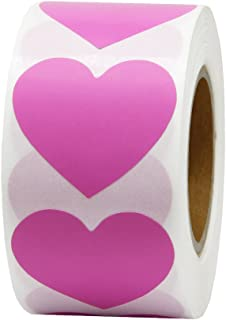 Hcode 1.5'' Color Coding Dot Labels Love Heart Shape Natural Paper Adhesive Label 500 Stickers per Roll