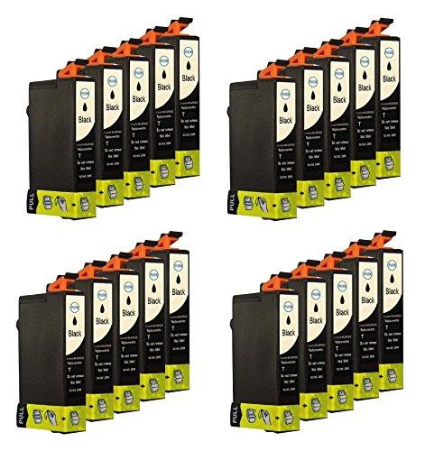 20 Tintenpatronen für Epson Schwarz mit Chip Epson Stylus SX218 Stylus SX417 SX510 DX 4400 DX6000 DX7400 SX 200 DX4000 SX210 D78 DX4000 DX4050 DX5050 DX6000 DX6050 DX7000F DX5000 DX4400 D92 SX515W D120 DX8400 DX7400 DX7450 DX8450 DX9400FS DX4450 SX205 SX415 SX215 SX110 SX400 S20 Office BX310FN OfficeBX300F SX210 SX400 Wifi Office B40W SX115 SX100 SX600FW Office BX600FW SX105 SX405 SX200 DX8400 SX400 SX100 SX405 S21 DX9200 SX410 DX5000 Stylus Office BX610FW Stylus DX 5500 ersetzt Epson T0711BK