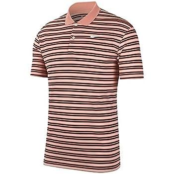 Nike Men s Nike Dri-fit Victory Stripe Polo Pink Quartz/Black/White/White X-Large