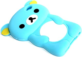 iTitan Cotton Candy Blue {Teddy Bear Animal} Soft and Smooth Silicone Cute 3D Fitted Bumper Gel Case for iPod 4 (4G) 4th Generation iTouch by Apple