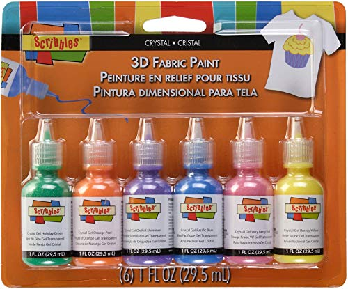 Duncan Crafts Scribbles Dimensional Fabric Paint 1 Oz. 6-Pack: Crystals