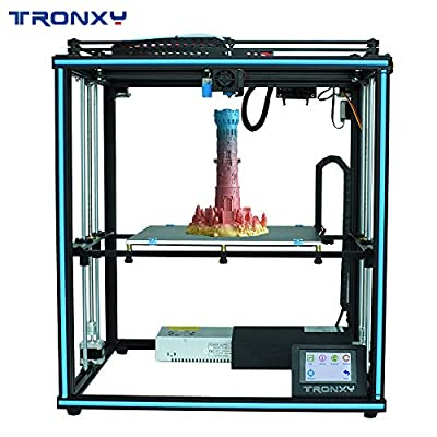 TRONXY X5SA Industrial 3D Printer Automatically Leveling with Larger Model Size 330X330X400mm,3.5inch Color Touch Screen, filaments Detection