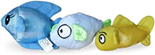 Fetch Pet Products Ocean Buddies Multiple Squeaker Dog Toy, Brightly Colored Canvas and Plush, Multiple Squeakers, for Large and Small Dogs, Indoor and Outdoor Play